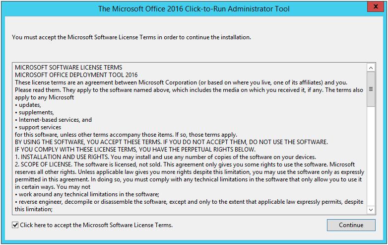 Install Office 365 on RDS Server (Terminal Server) via Shared